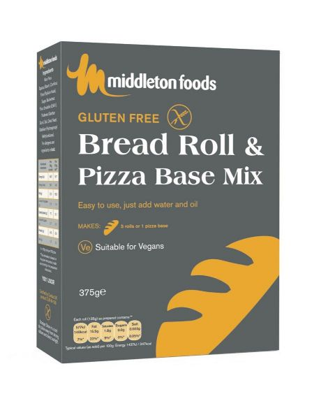Middleton's Bread Roll & Pizza Base Mix 375G